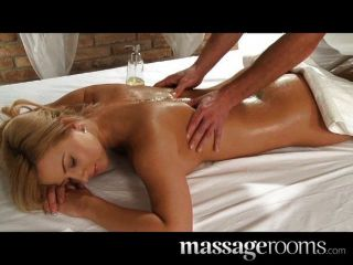 Massage rooms - Young busty babe has big tits