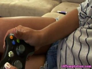 Teen Playing Video Games And Stepbro