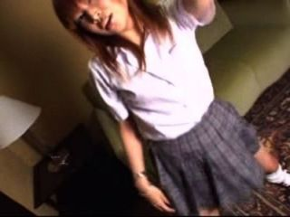 Schoolgirl dancing to be underwear style, takes bra off to show her pretty tits