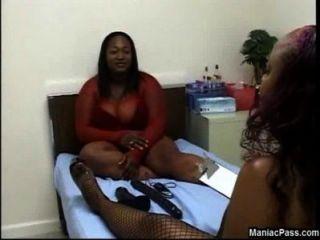 Fat Black Lesbian Dildo Testing