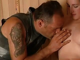 Old Man Gets Lucky With Busty Teen