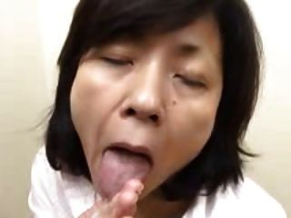 Japanese Granny Sucks Swallows & Squirts (uncensored)