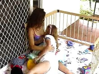 Felicity And Lola Breast Feeding