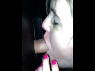 Hot Wife Sucking Strangers Cock At Gloryhole