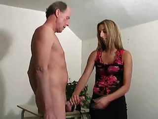 Cute Girl Jerks Him Off Into Her Shoe !
