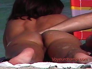 Voyeurchamp.com 3 Hot Milf Moms Exposed On The Nude Beach!