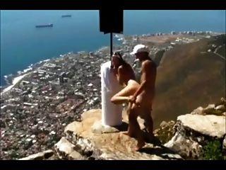Amateur couple suck and fuck above Cape Town
