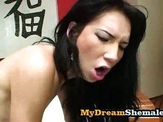 Sabrina Kamoei - Tranny Gets Condomless Fuck From Latino Coc