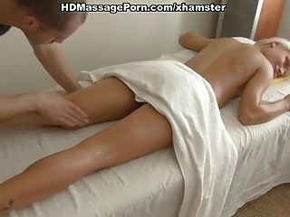 massage sex with a young blonde