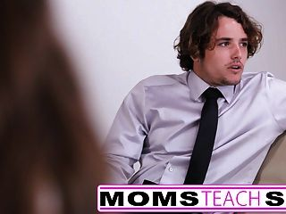 Mom seduces not son in hard fast fuck lessons