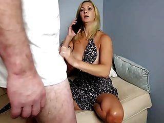 Stepmom & Stepson Affair 99 (Your Dad is On Phone)